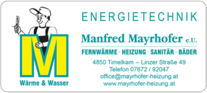 Energietechnik Manfred Mayrhofer - TIWI Timelkam