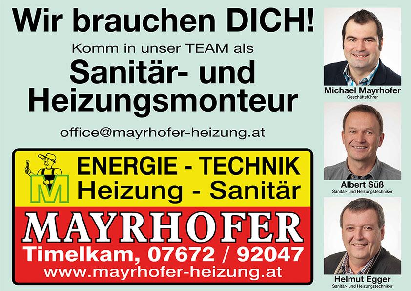 Mayrhofer Timelkam - wir suchen Dich!